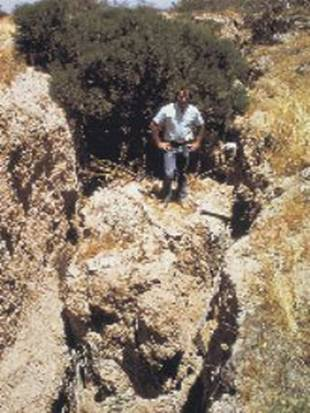 [Photo: Figure 5 - Earth fissures in south-central Arizona]
